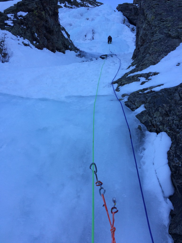 Leading on Second Gully